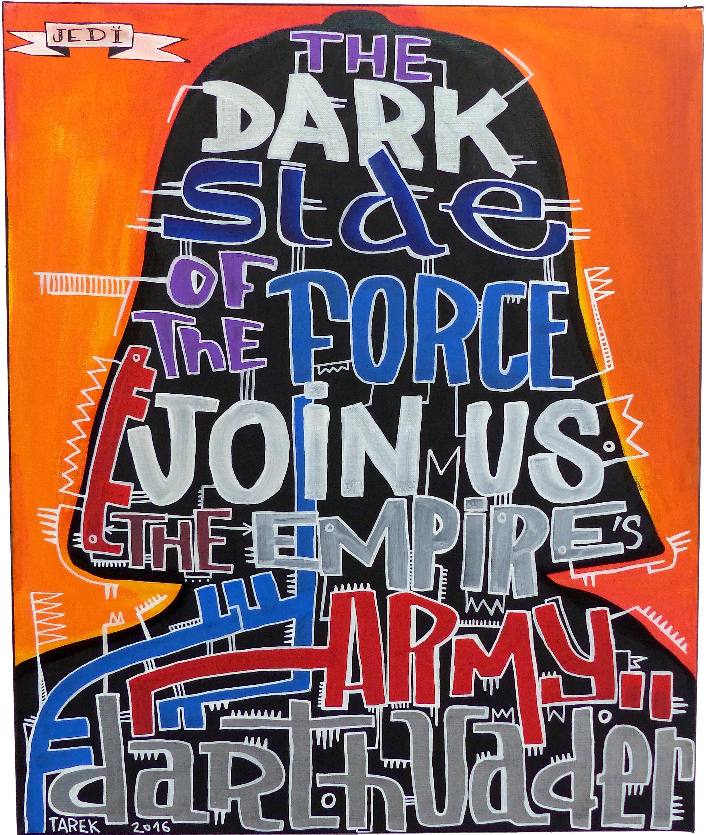 Dark Vader street art Tarek