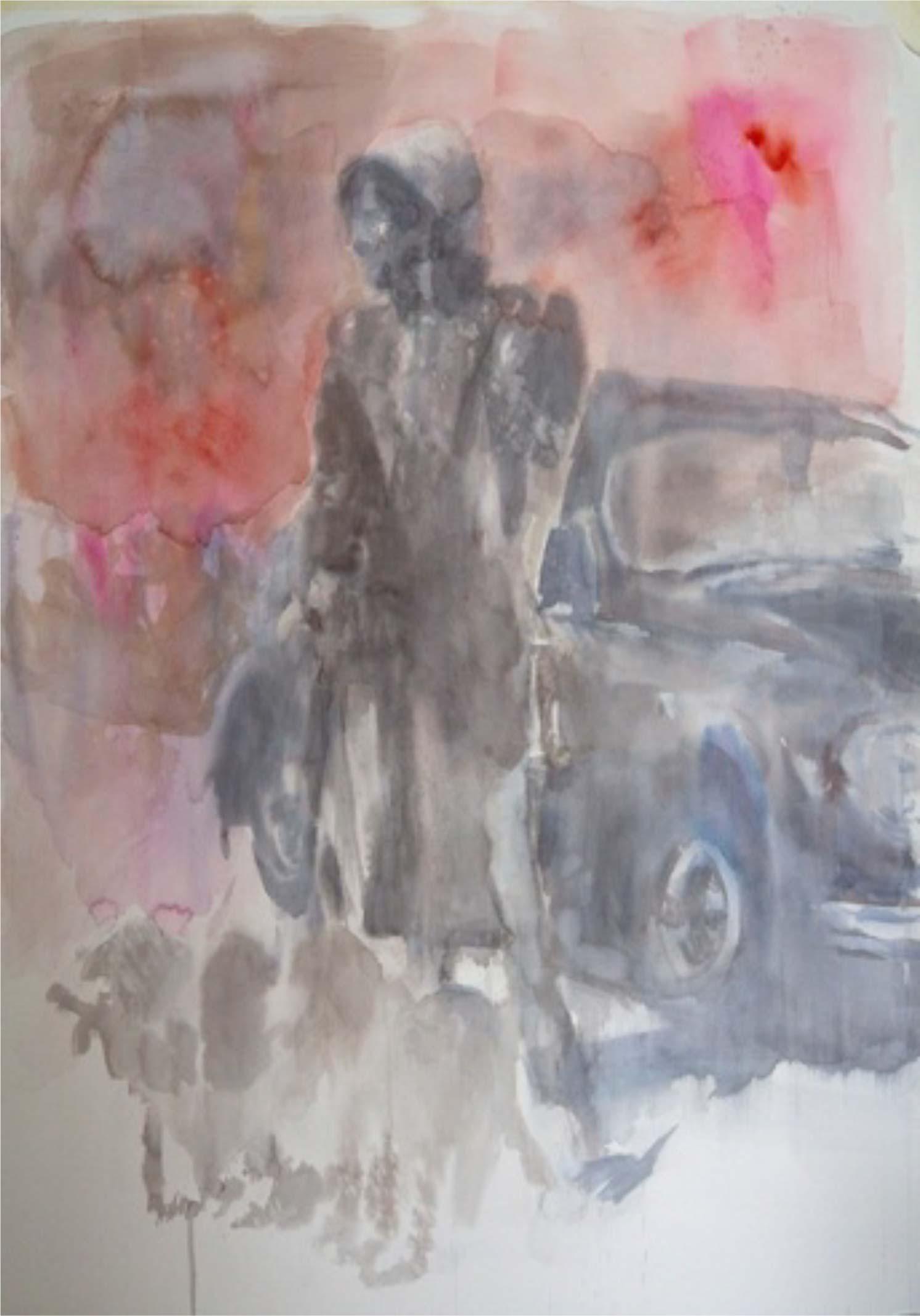 Cruel summer, 2012 - Aquarelle sur papier 70x100