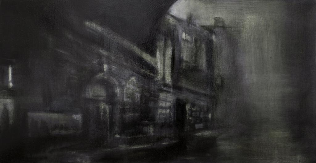 Fog - Thierry Chavenon 80 x 40 cm Huile sur toile de lin