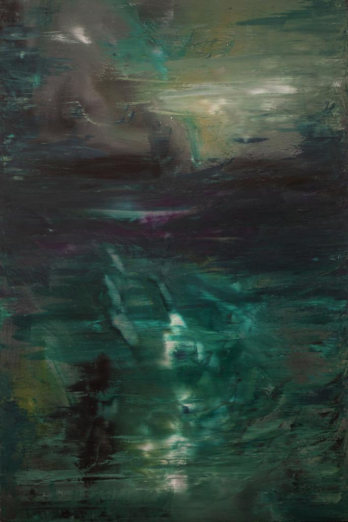 OVNI - Thierry Chavenon 60 x 92 cm Huile sur toile de lin