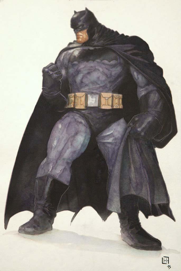 Fabrice Le Henanff - Batman - 21 cm 30 ,5 cm - 200 e