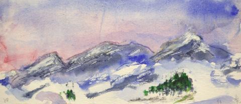 Tignes sous le soleil couchant - Alain Husson-Dumoutier
