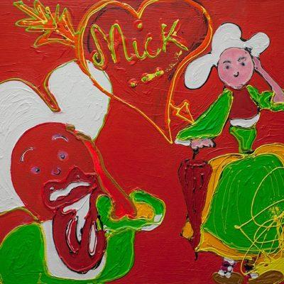 Joker - 2018 - 80 x 100 cm -Acrylique sur toile - 1000€
