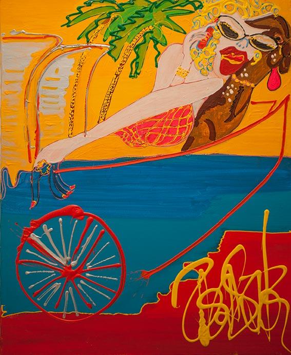 La grand mère maternelle - 2018 - 100 x 80 cm -Acrylique sur toile - 3000€