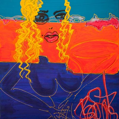 La mère - 2018 - 100 x 80 cm -Acrylique sur toile - 4500€