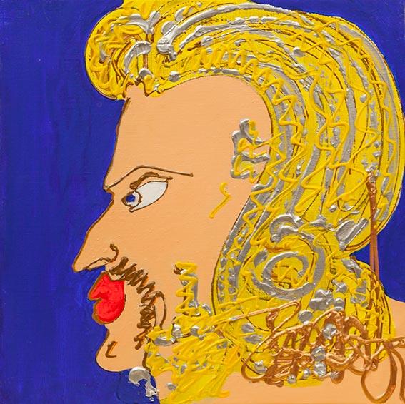 Le grand père - 2018 - 40 x 40 cm -Acrylique sur toile