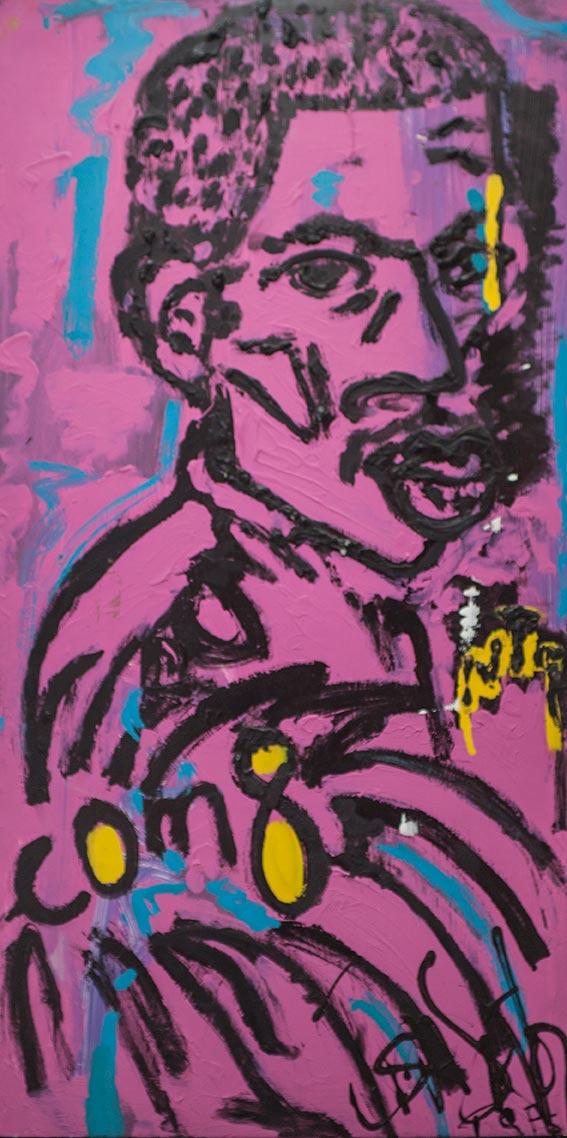 Le grand père - 2018 - x cm -Acrylique sur toile - 3200€