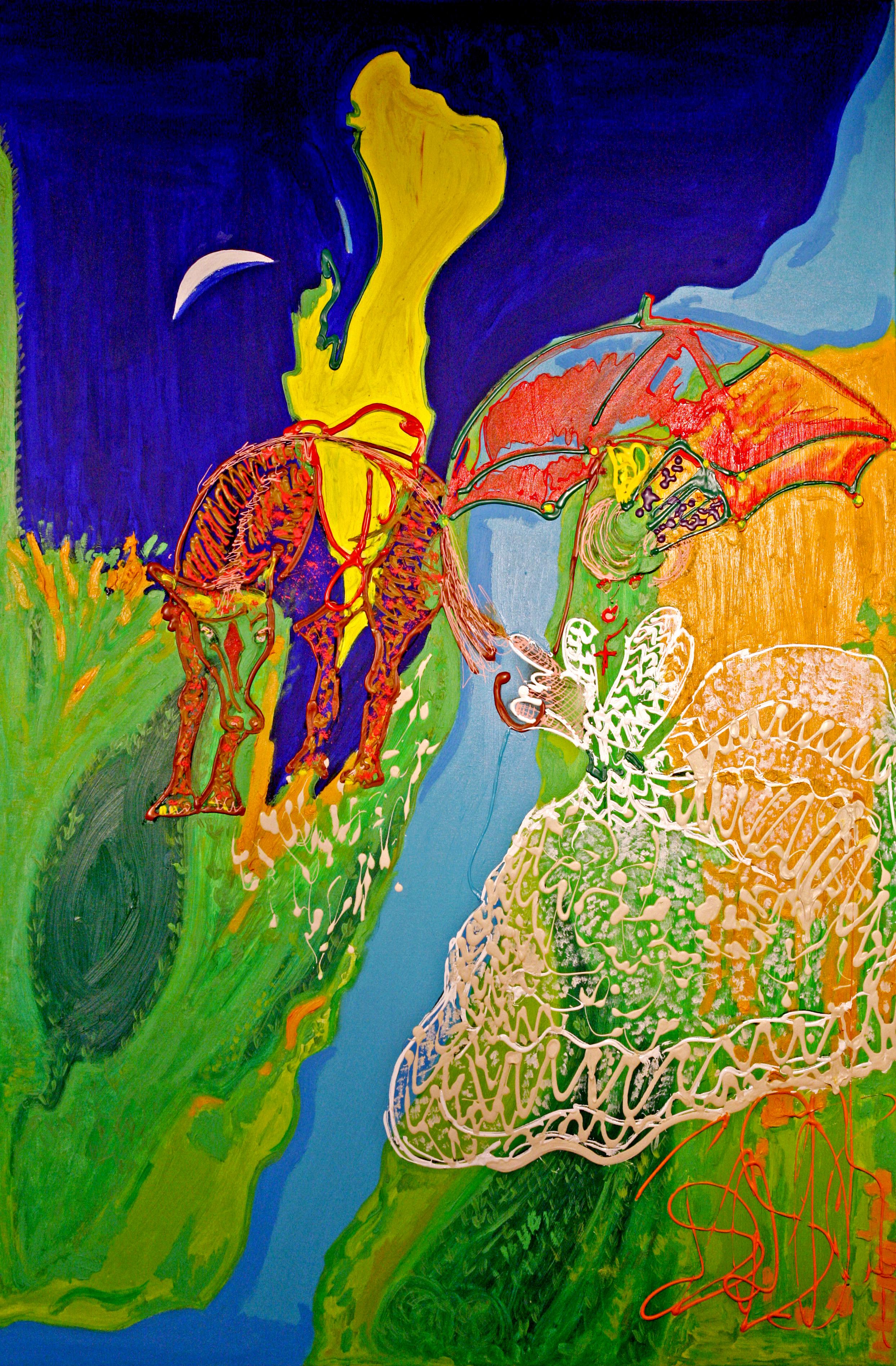 La Mariée Isa Sator Acrylique sur toile 190 x 160