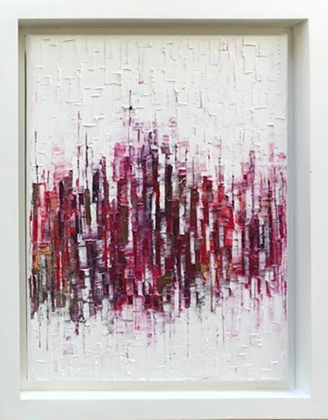 Carole Jury LA VIE EN ROSE 17 Peinture à l'huile 22,8 cm x 30,4 cm