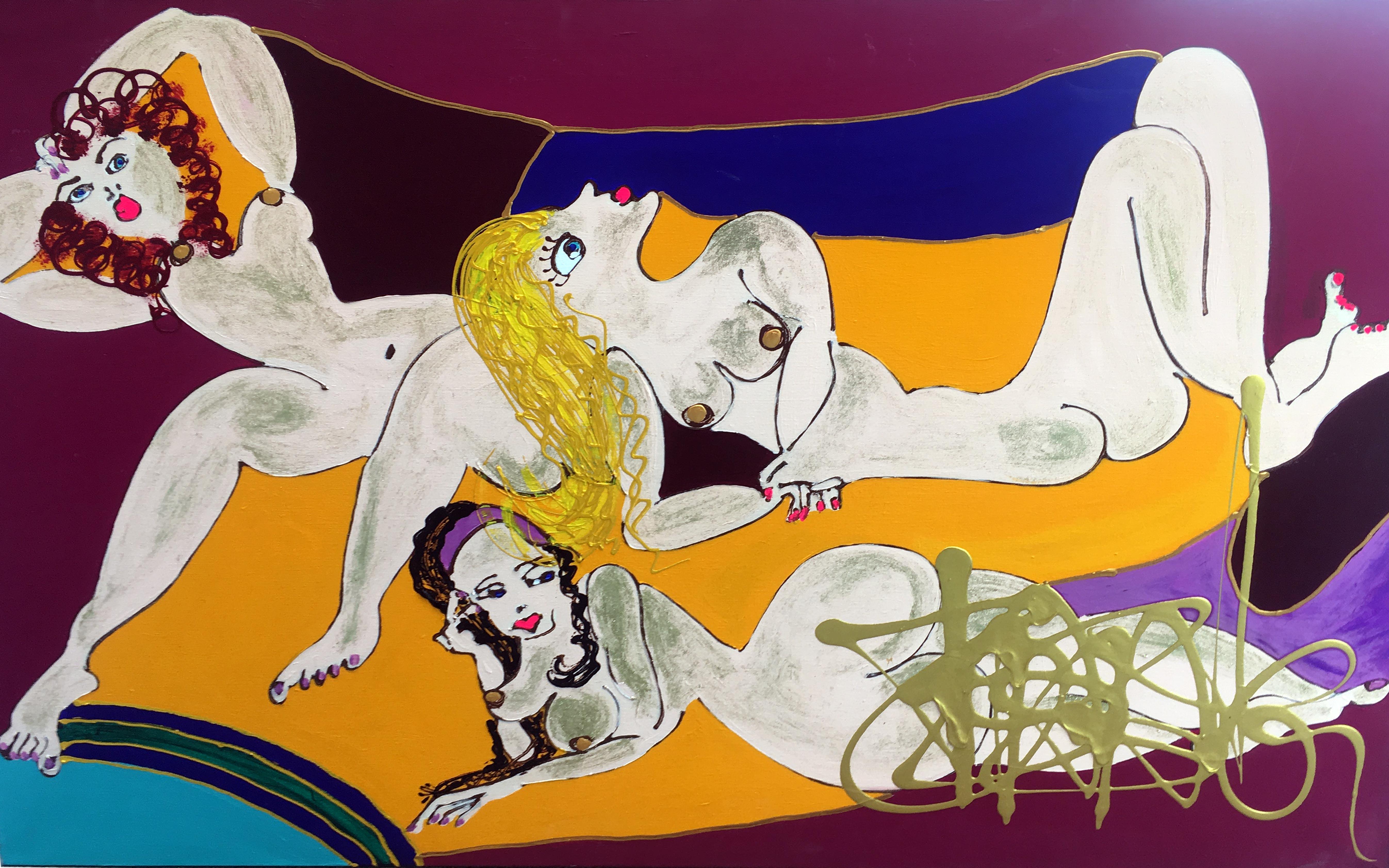 Le harem Isa Sator 190 x 90 Acrylique sur toile