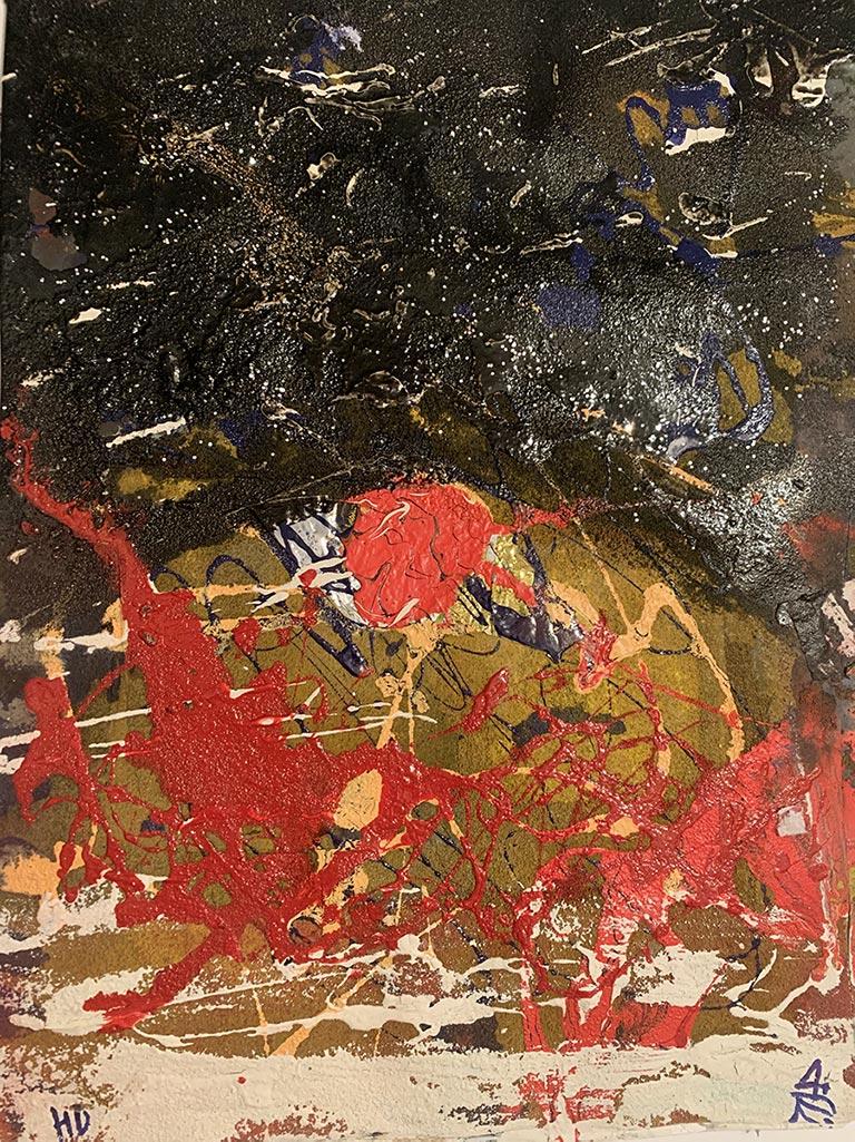 K197F Huile et acrylique sur papier 30 x 40 cm