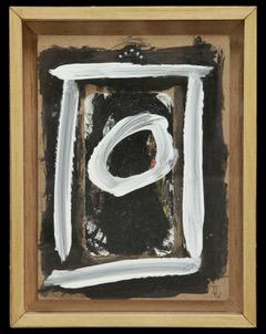 A DAME NOIRE technique mixte: coffret bois, verre , carte ,acrylique , verre / 20x 23 cm