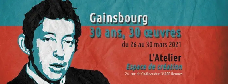 Exposition Gainsbourg 30 ans 30 oeuvres
