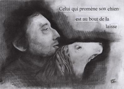 Celui qui promène son chien est au bout de la laisse - Karine Nicolleau - Gainsbourg