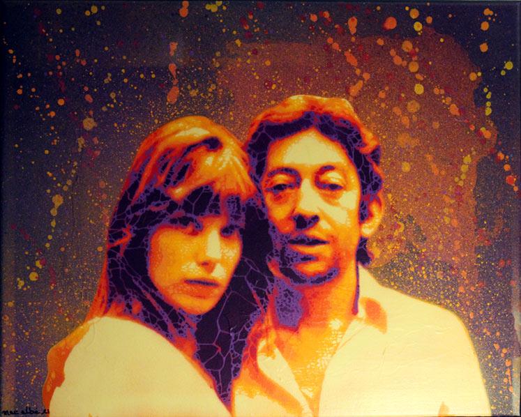 Mat Elbe - Gainsbourg - Toile2_33x41 - Galerie JPHT