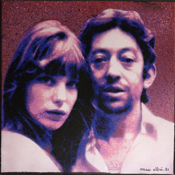 Mat Elbe - Gainsbourg - Toile3_25x25 - Galerie JPHT