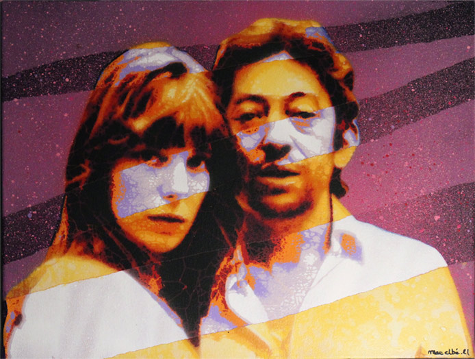 Mat Elbe - Gainsbourg - Toile4_35x27 - Galerie JPHT