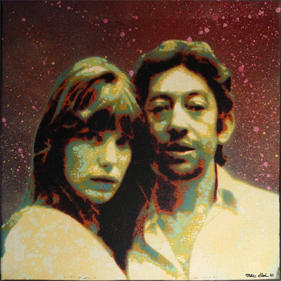 Mat Elbe - Gainsbourg - Toile5_30x30 -Galerie JPHT